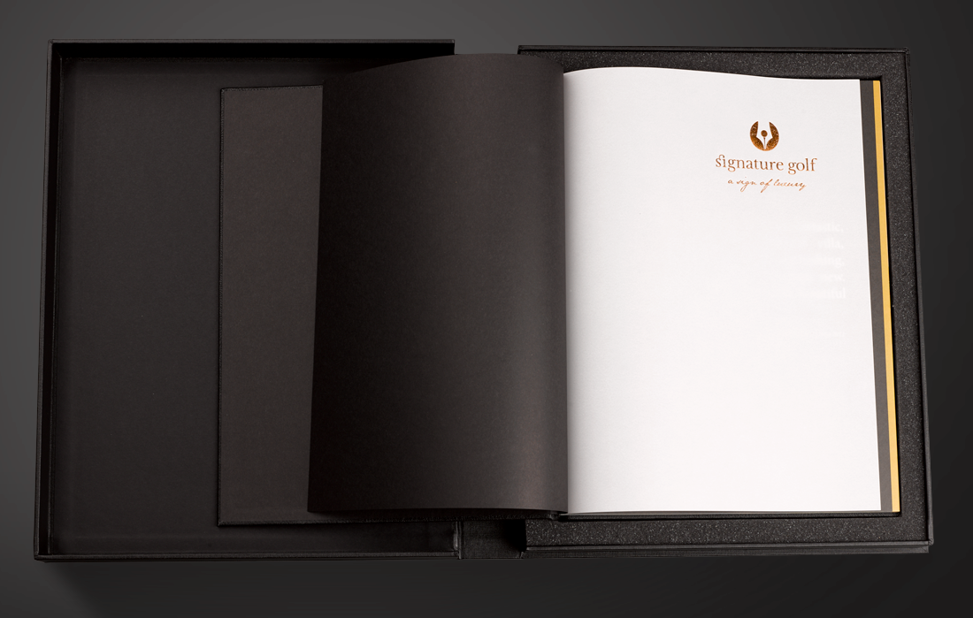 Signature Golf Kinross House Leather Book with tracing paper insert by SMR