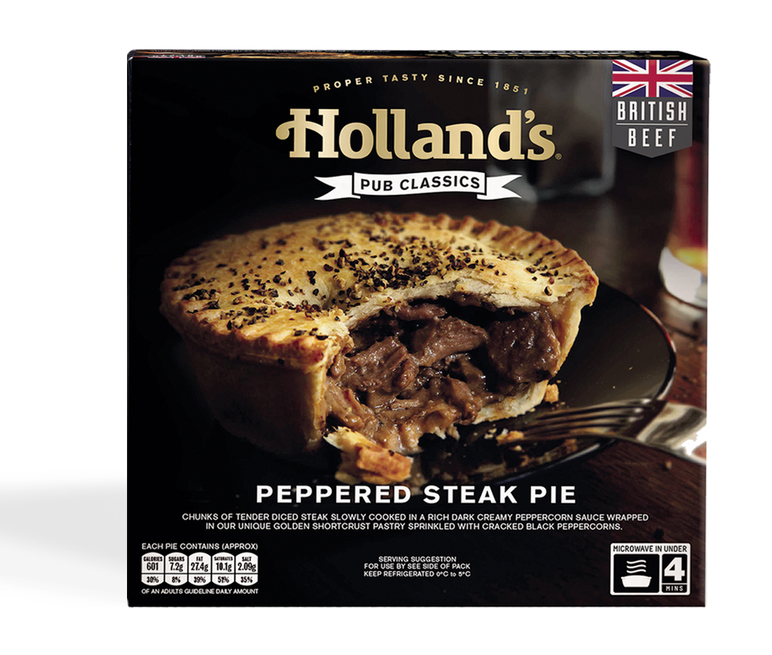 Hollands packaging design for pub classic range