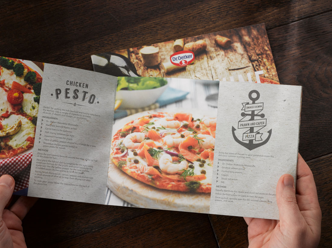 Dr Oetker Pizza and Wine guide photographed on dark wood 5