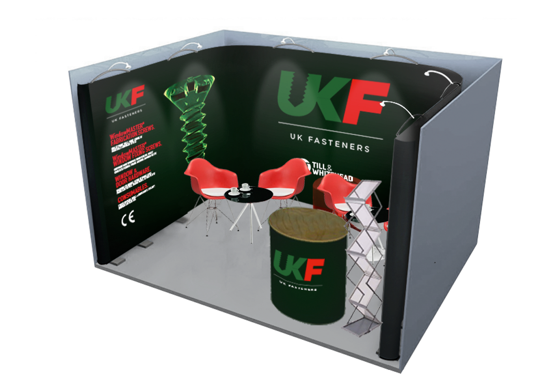 Till and Whitehead - UK Fasteners exhibition stand