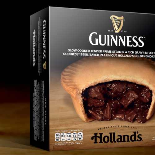 holland's pies steak and guinness box