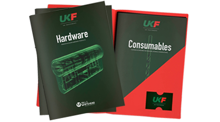Till & Whitehead, UK Fasteners printed folders and brochures